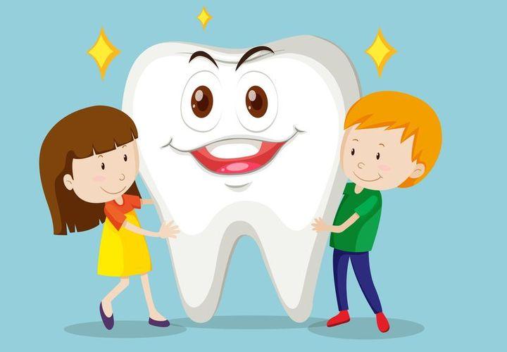 Дети с зубом