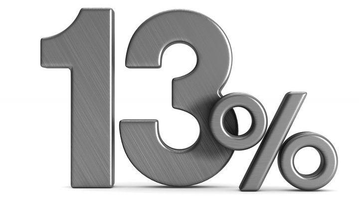 Подоходный налог 13%